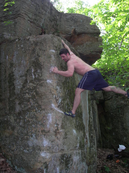 Rock Climbing Photo: top of problem