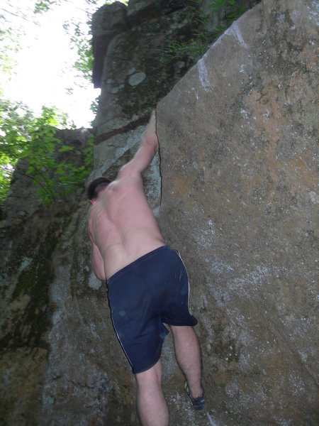 Rock Climbing Photo: throw to jug