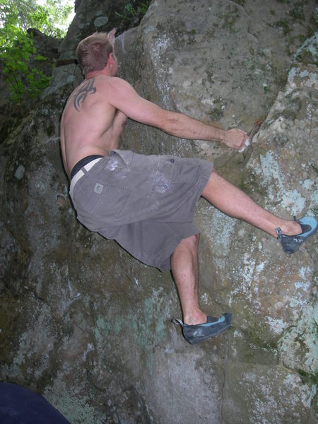 Rock Climbing Photo: right hand start hold left hand bad sloper