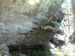 Rock Climbing Photo: Due to the newly groomed landing, Ryan is fearless...