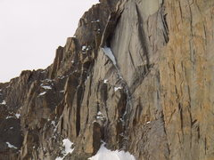 Rock Climbing Photo: Close-up of The Window route on Long's peak taken ...