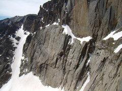 Rock Climbing Photo: Long's Peak- lower east face on June 23rd, 2008.