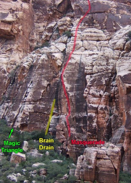 Routes along the base of the Magic Triangle.
