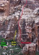 Rock Climbing Photo: Routes along the base of the Magic Triangle.