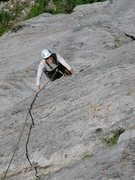 Rock Climbing Photo: Maura Hahnenberger climbing the slab leading to th...