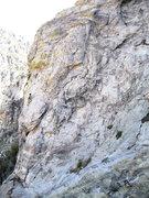 Rock Climbing Photo: John Hayes belays Mike Gura on the slabs between t...