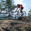 Mountain biking at the New River Gorge - Long Point Trail.
