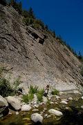 Rock Climbing Photo: Kathy Boussina belays her son Aaron up Half Ascent...