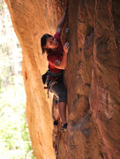 Rock Climbing Photo: Megan at the crux of Short Asst
