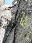 Rock Climbing Photo: 75 feet down 125 left to go on this monster link-u...