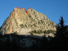 Rock Climbing Photo: complete route