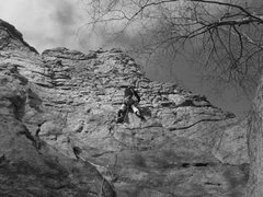 Rock Climbing Photo: Why do they call it Knob Wall?  Knob Wall 5.6 Sand...
