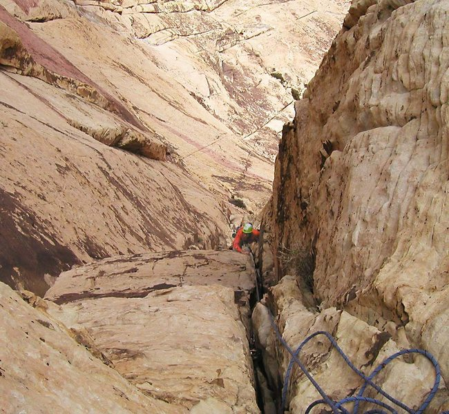 Rock Climbing Photo: The last pitch before the route rejoins the Rainbo...