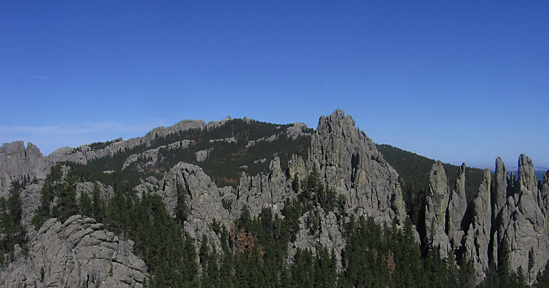 Rock Climbing Photo: Harney peak, mystery spires, Picket Fence