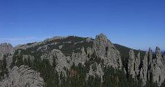 Rock Climbing Photo: Harney peak, mystery spires, Picket Fence