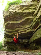 Rock Climbing Photo: The nice big ledge at the beginning of the route(s...