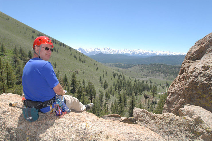 Michael McKay enjoys the stunning views of the Eastern Sierra from within Clark Canyon.