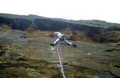 Rock Climbing Photo: Mid crux on Covernty Street, 5.11d.