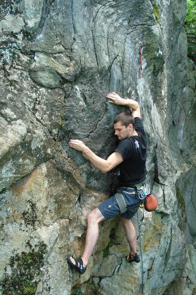 Rock Climbing Photo: jeff looking all Kung-Fu...