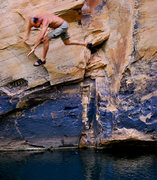 Rock Climbing Photo: We escaped the valley heat and found water and roc...