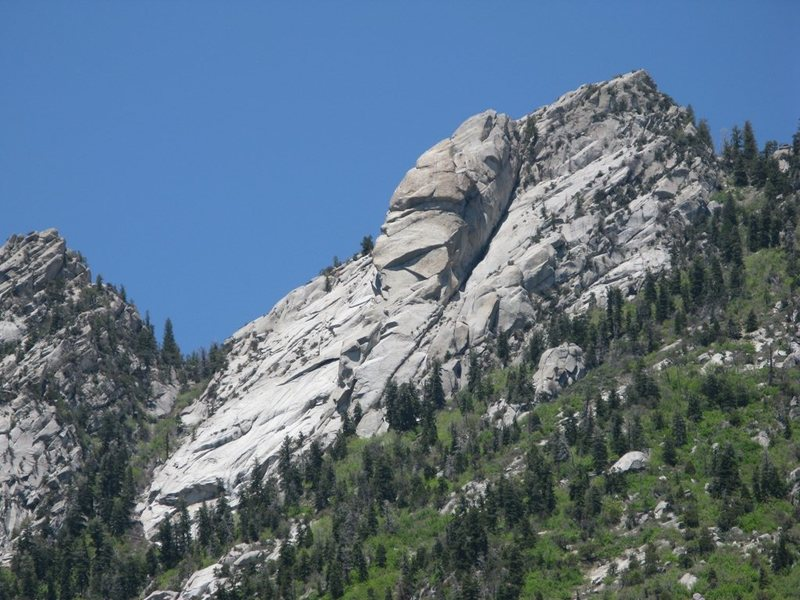 Rock Climbing Photo: The Pawn, taken from the Great White Icicle area.
