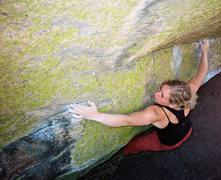 Rock Climbing Photo: Ashley Gann on the Megaton Traverse.