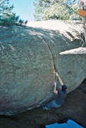 Rock Climbing Photo: Jesse Mascarenas on Crack in the Woods.