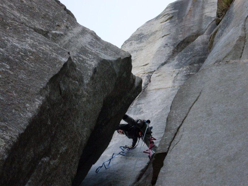 Big span onto El Cap Spire.