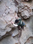 Rock Climbing Photo: Sand Rock, AL - Heave Ho (11b) pretty fun warmup
