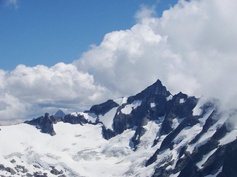 Forbidean peak as seen from the base camp of eldorado
