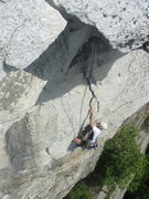 Rock Climbing Photo: Troy Sexton near the top of CCK Direct.