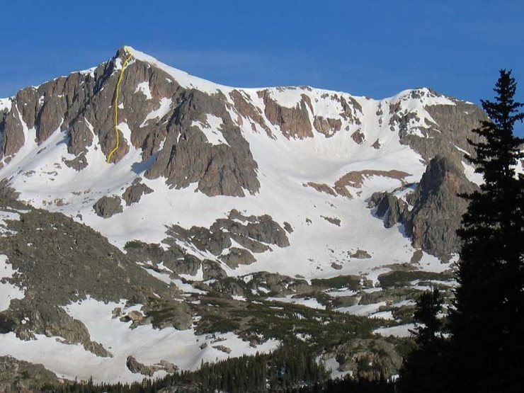 Rock Climbing Photo: Mt. Neva's east face in early June 2004. There was...