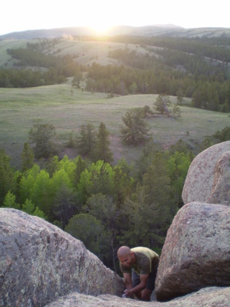 Arjun finishing off a sweet solo at Coyote Rocks before sunset