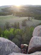 Rock Climbing Photo: Arjun finishing off a sweet solo at Coyote Rocks b...