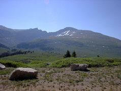 Rock Climbing Photo: Mt Bierstadt taken from trail entrance by road