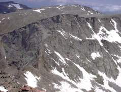 Rock Climbing Photo: Looking down on the top of the Sawtooth.