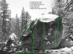Rock Climbing Photo: Ranger Station Rock 1 (NE Face), Tramway.