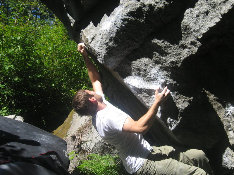 Rock Climbing Photo: Sam showing the new crip that has to be used since...