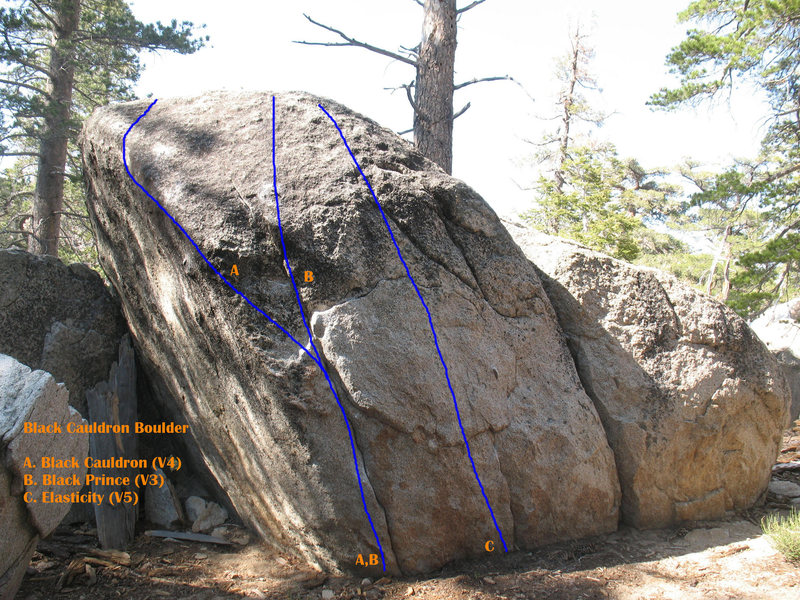 Black Cauldron Boulder, Tramway