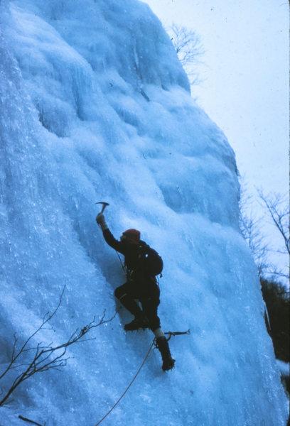 Rock Climbing Photo: Standard Route: Frankenstein Cliff NH 1975  Bob Do...
