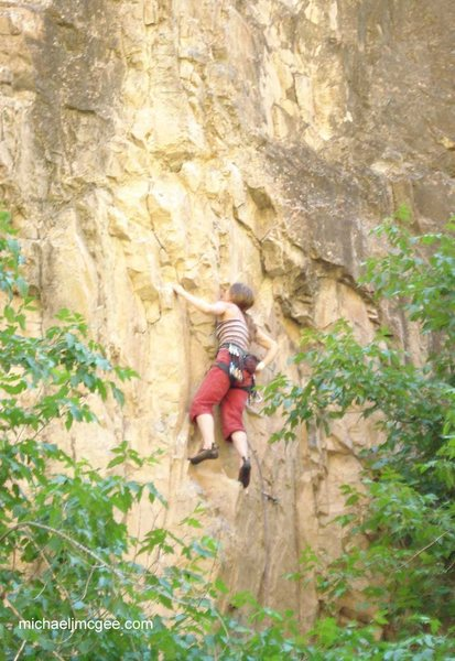 Rock Climbing Photo: Climber at the great rest, before pulling through ...