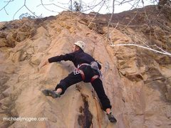 Rock Climbing Photo: T-Mac in early April.