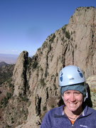 Rock Climbing Photo: Wendy, just before starting to Simul the fourth cl...