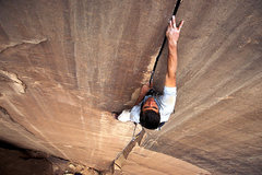 Rock Climbing Photo: Brent onsighting Sig Sauer