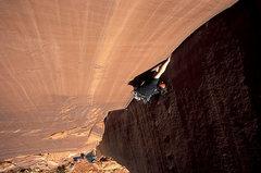 Rock Climbing Photo: Joel on the Warm Up Crack