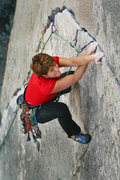 Rock Climbing Photo: Mary Devore about to hit the crux of Wages of Skin...