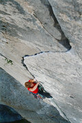 Rock Climbing Photo: Scenic view of the S-shaped crack. Mary Devore cli...
