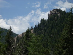 Rock Climbing Photo: Getting close to Devil's Slide. This is the first ...