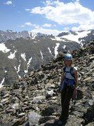 Rock Climbing Photo: Happy day climbing Hallett.  Photo by John Francis...