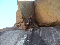 Rock Climbing Photo: Ryan having some fun on the first pitch.  This is ...